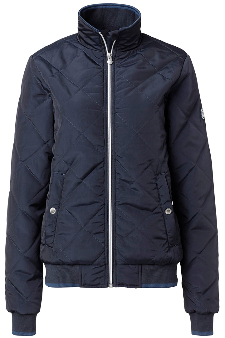 Quilt style winter riding jacket