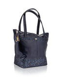 Blue Handbag with glitter