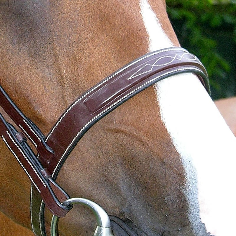 Fancy stitch hunter bridle