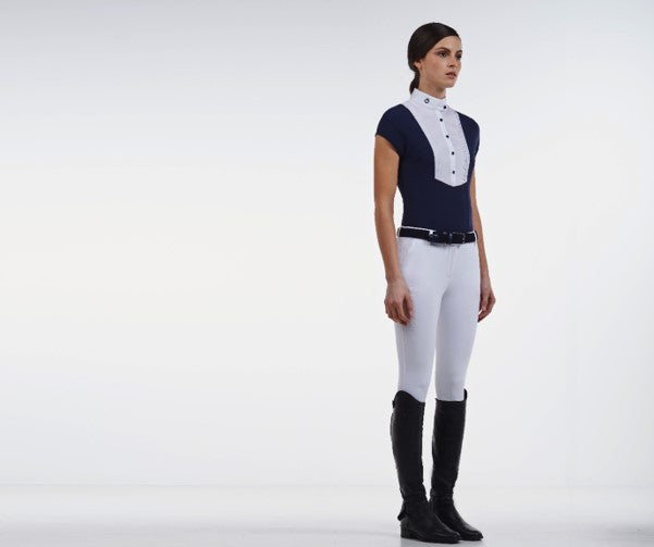Navy Show Jumping Show Shirt Ladies
