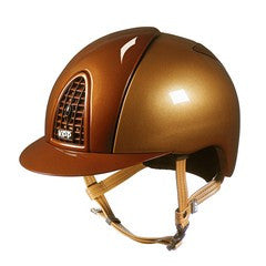 Cromo Metal Caramel with Polish Metal Bronze Grid, Inserts & Visor