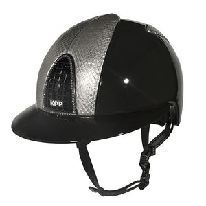 CROMO POLISH BLACK - METAL UNIVERSO SILVER SNAKE, SWAROVSKI AND POLO VISOR