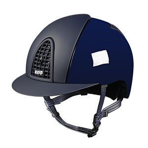 Cromo Polish Blue with Textile Grid, Inserts & Visor
