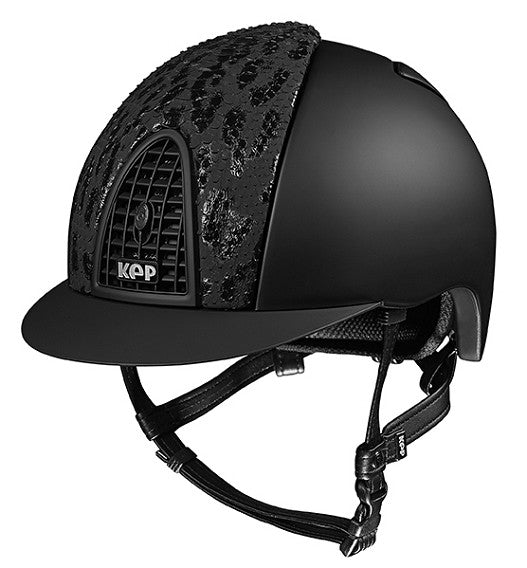 Black Kep helmet with snake skin