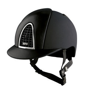 KEP Black Helmet with Black Leather