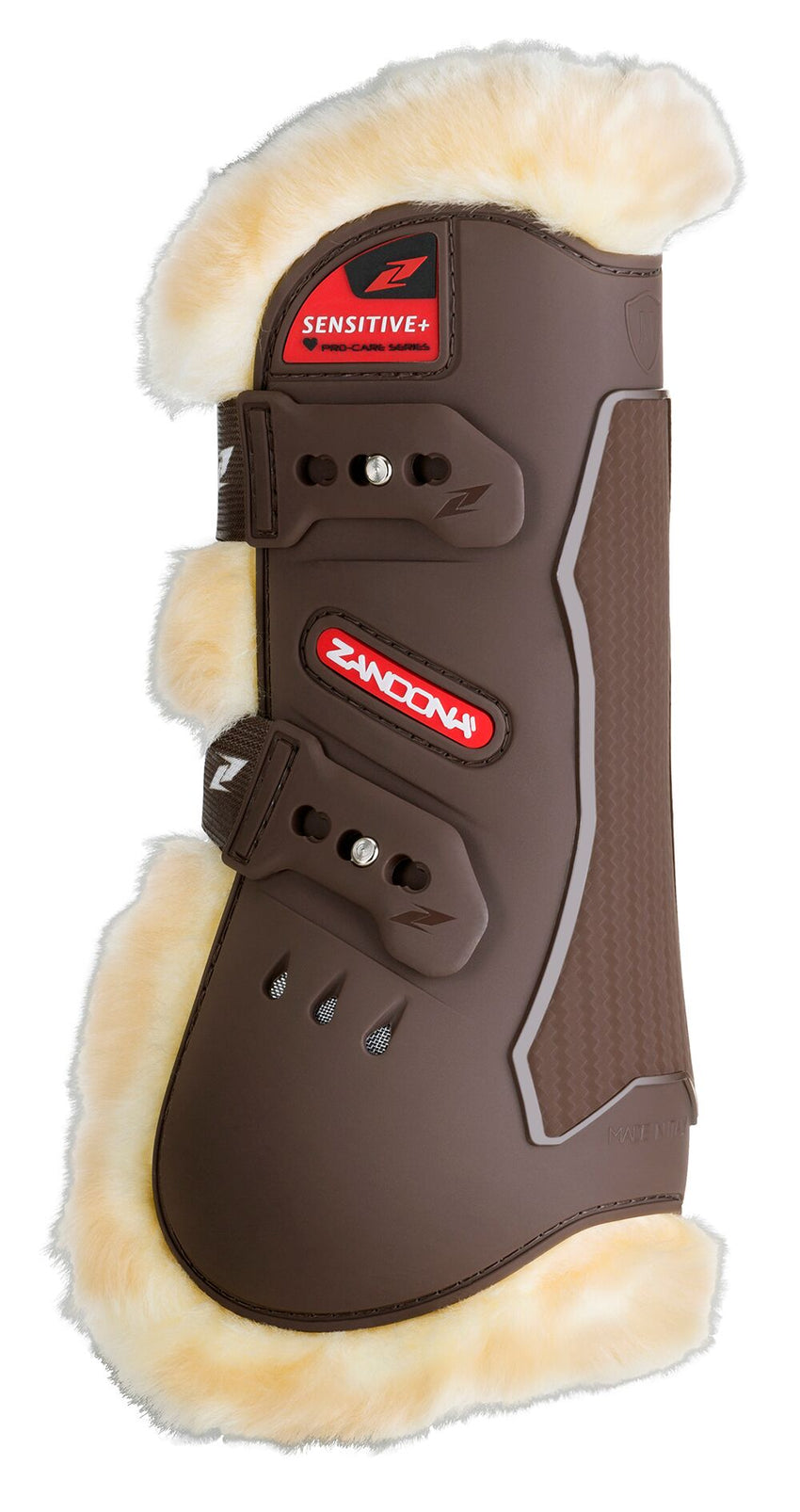 Brown Sheepskin Tendon Boots