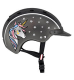 Helmet with unicorn