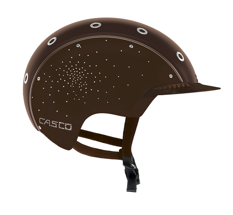 Brown horse riding helmet