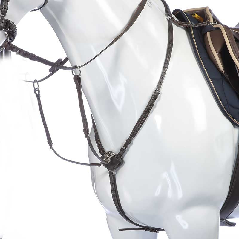 5 point leather breastplate