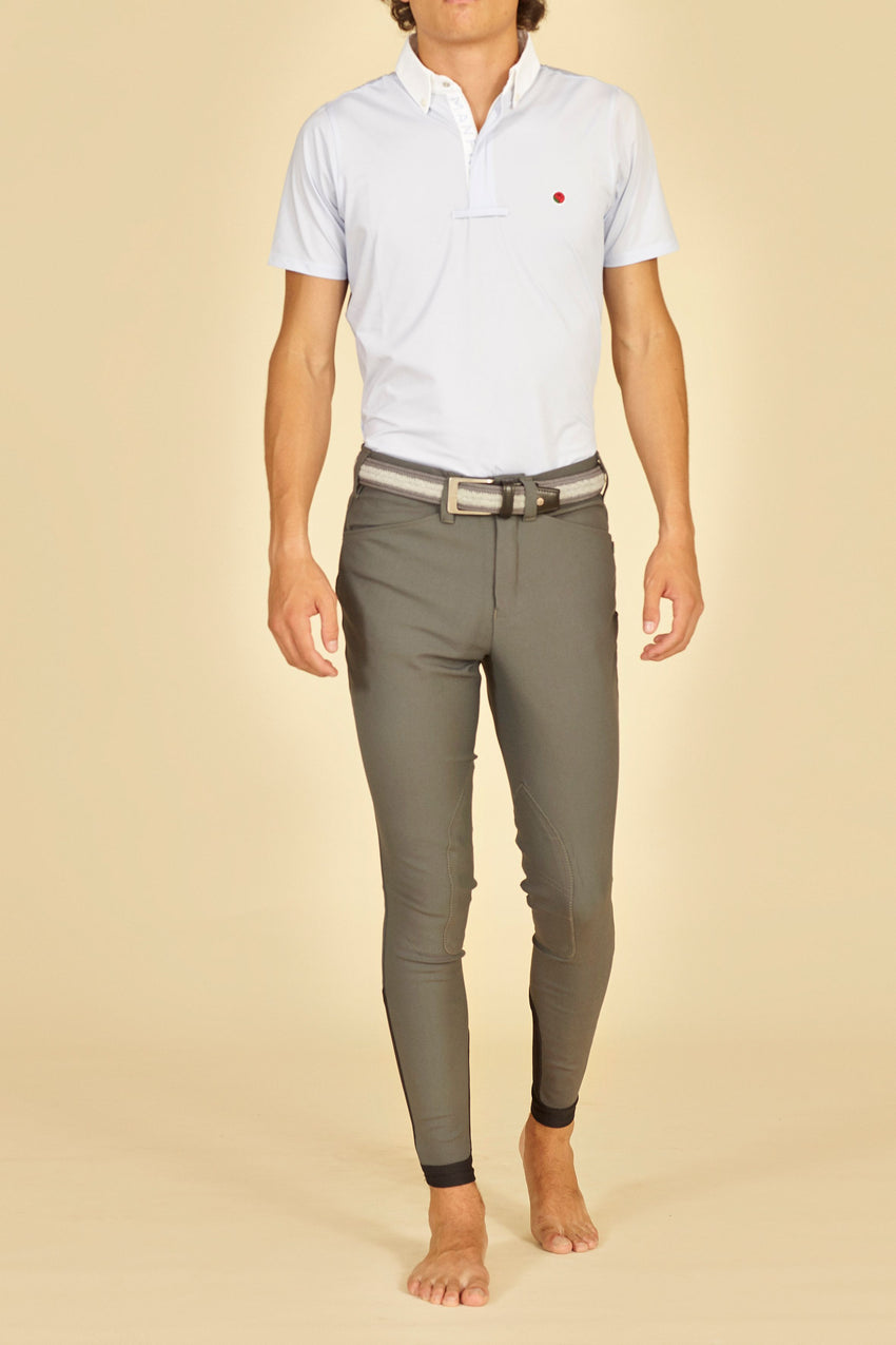Grey Men's Riding Breeches