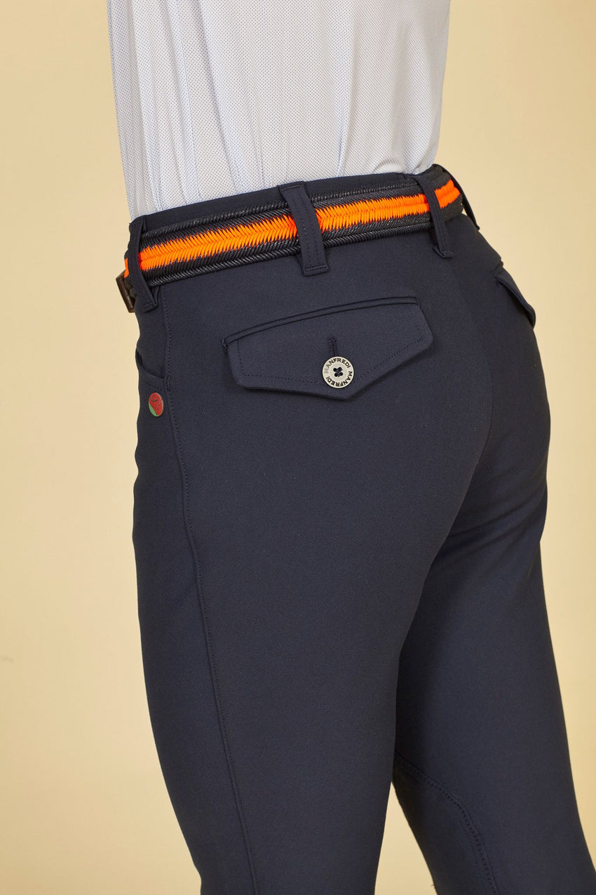 Manfredi Navy Mens Breeches