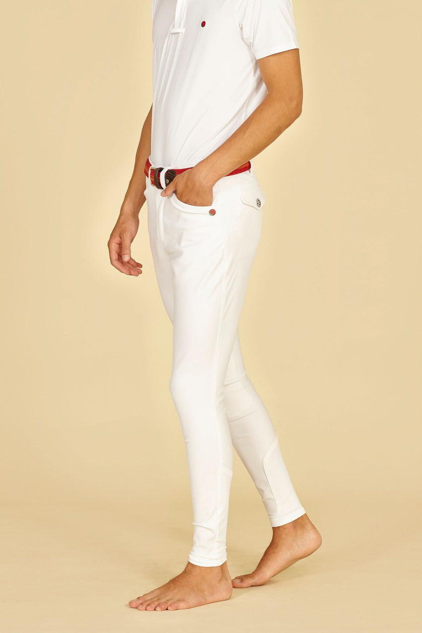White Competition Breeches for men