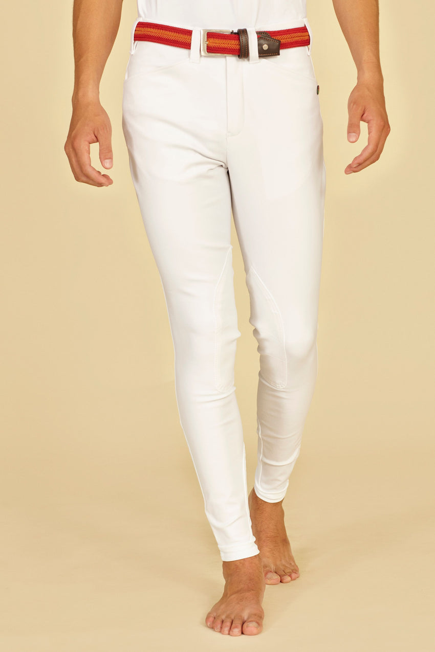 White Show jumping men's breeches