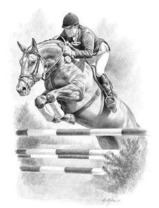 Show Jumping Print