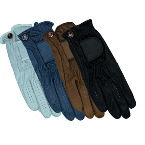 Genuine leather riding gloves