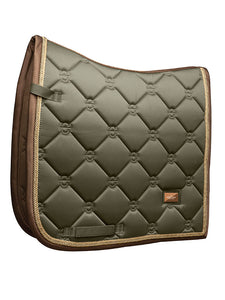Equestrian Stockholm Golden Olive Saddle Pad