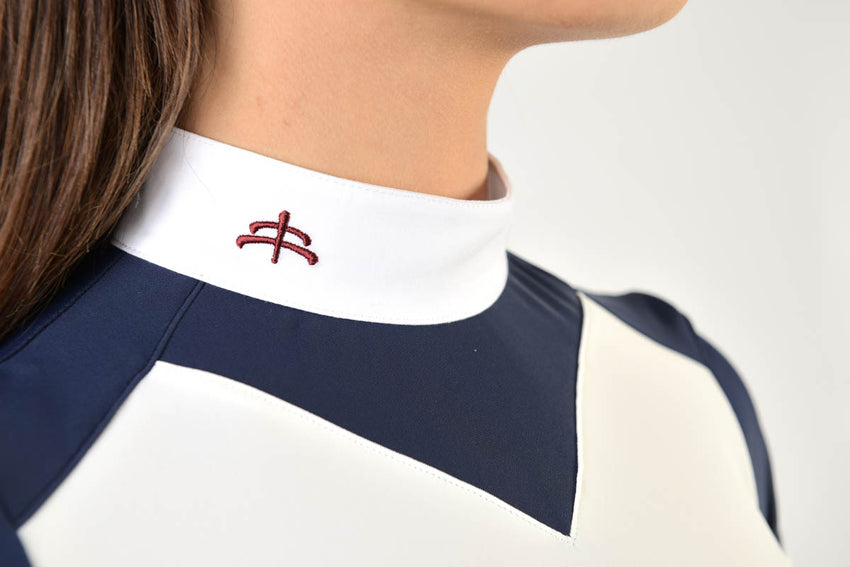 Navy/white show shirt