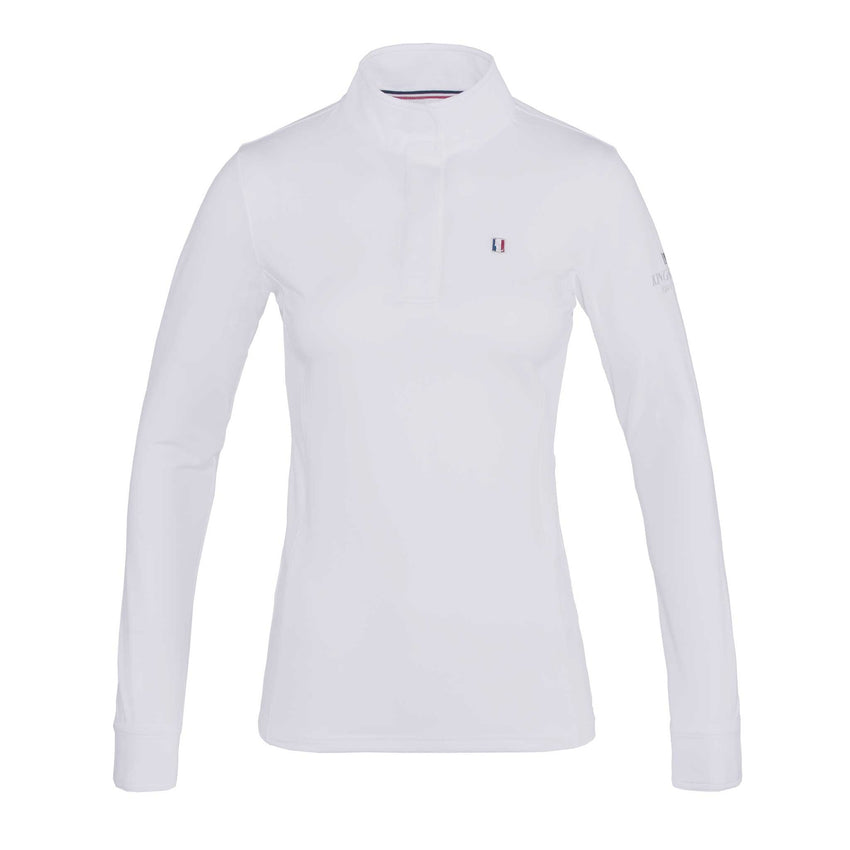 White Long Sleeve Ladies Dressage Shirt