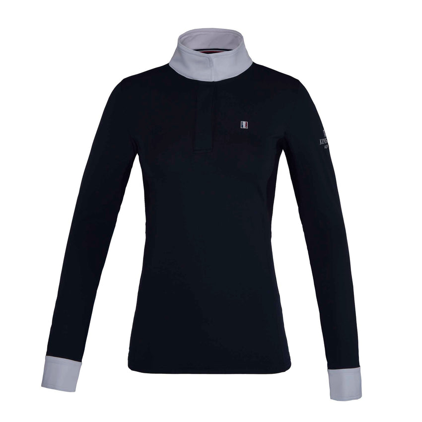 Navy White Long Sleeve Show Shirt