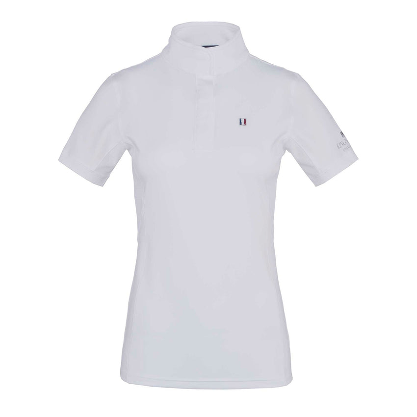 White Short Sleeve Dressage Shirt