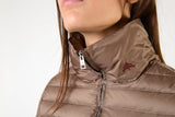 Beige Down Riding Jacket