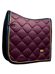 Equestrian Stockholm Purple Gold Saddle blanket