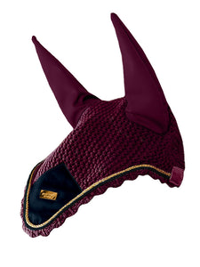 Equestrian Stockholm Purple Gold Ear Bonnet