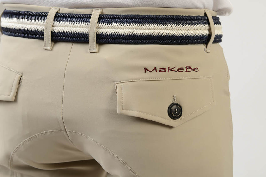 Beige Show Jumping Breeches for men