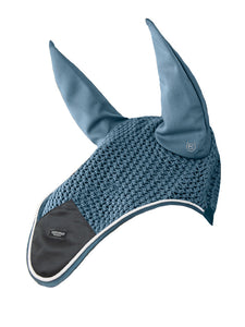 Equestrian Stockholm Steel Blue Ear Bonnet
