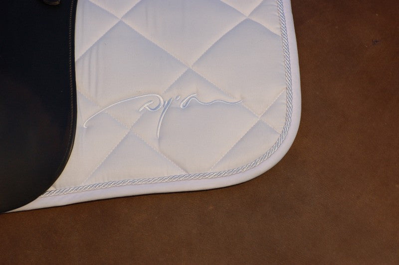 White Dressage Saddle Pad