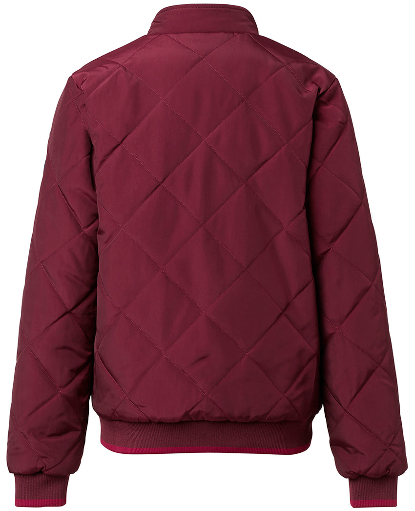 Bordeaux coloured quilted jacket