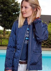Navy Quilted Summer Riding Jacket
