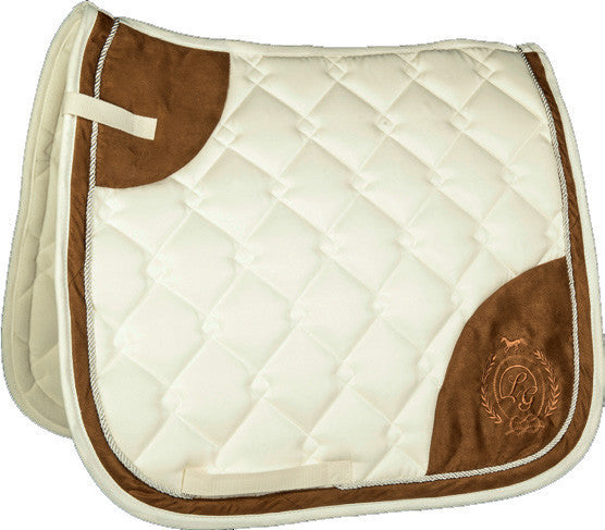 Ivory coloured saddle blanket
