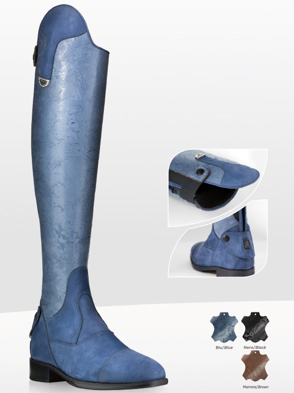 Blue Tall Boots