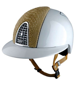Kep Polo Helmet with Python Leather
