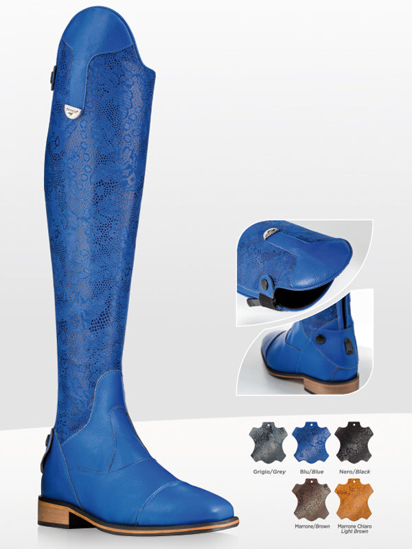 Light Blue Riding Boots
