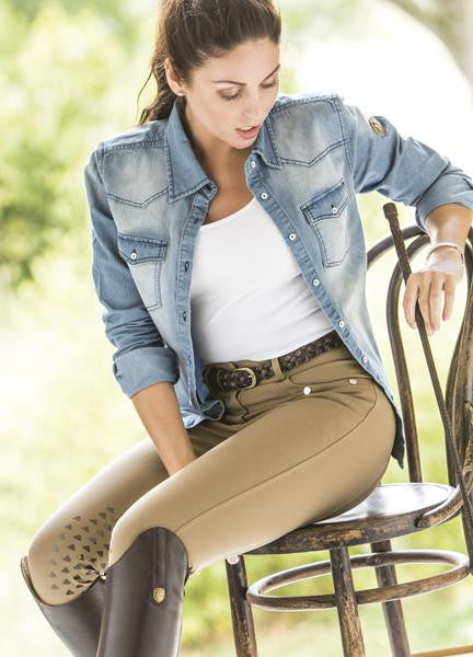 Silicone Knee Patch Bronze Breeches