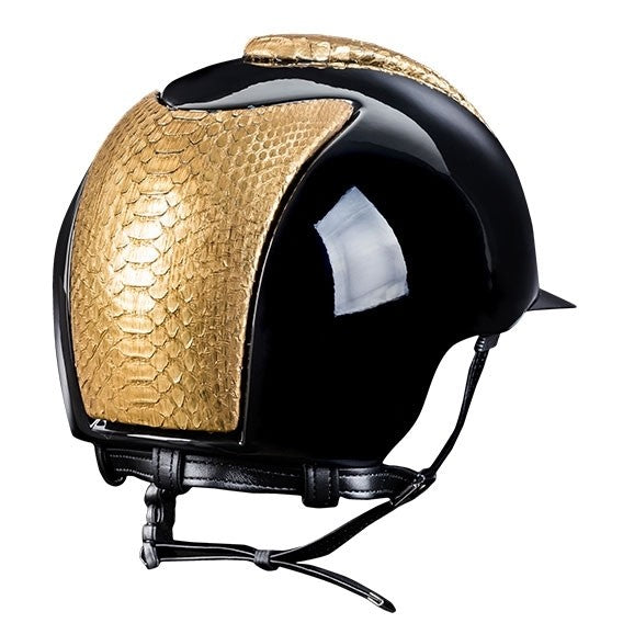 Kep helmet with gold python