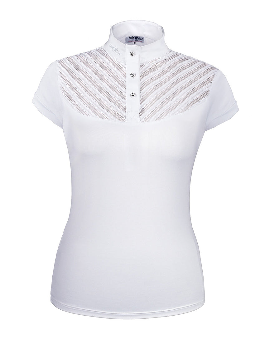 Womens White Competition Shirt