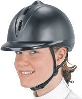 Riding Helmet with Smooth Plastic Finish
