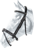 Kentaur Leather Bridle with Removable Flash