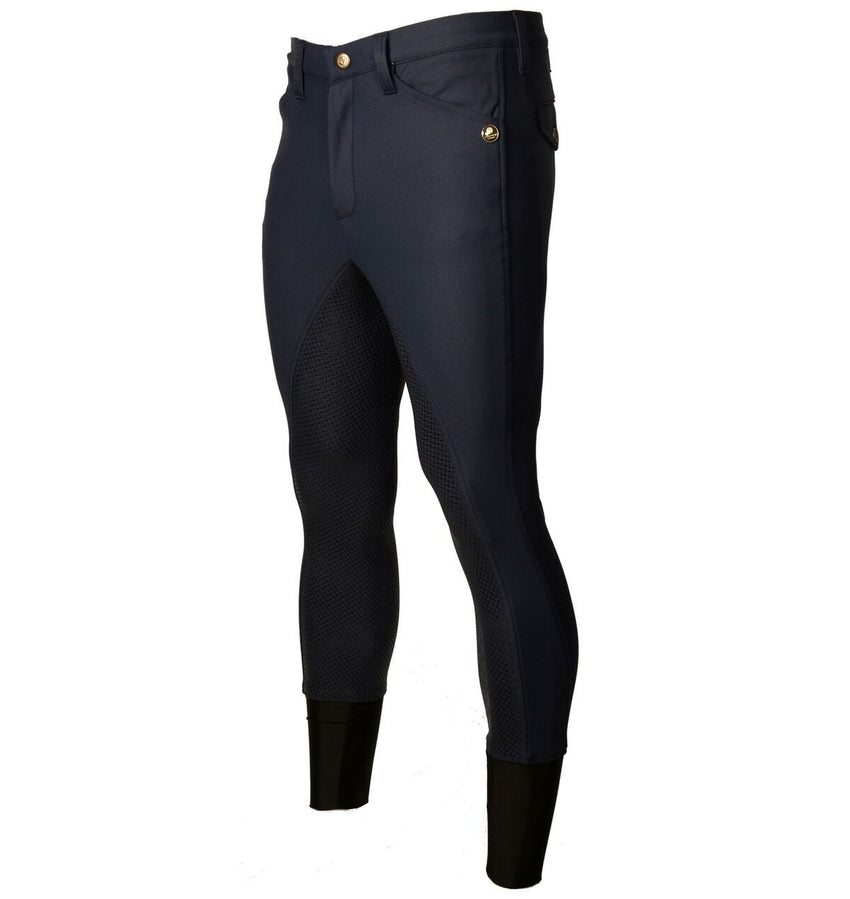 Navy Full Silicone Seat Men's Breeches