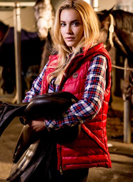 Red Horse Riding Vest
