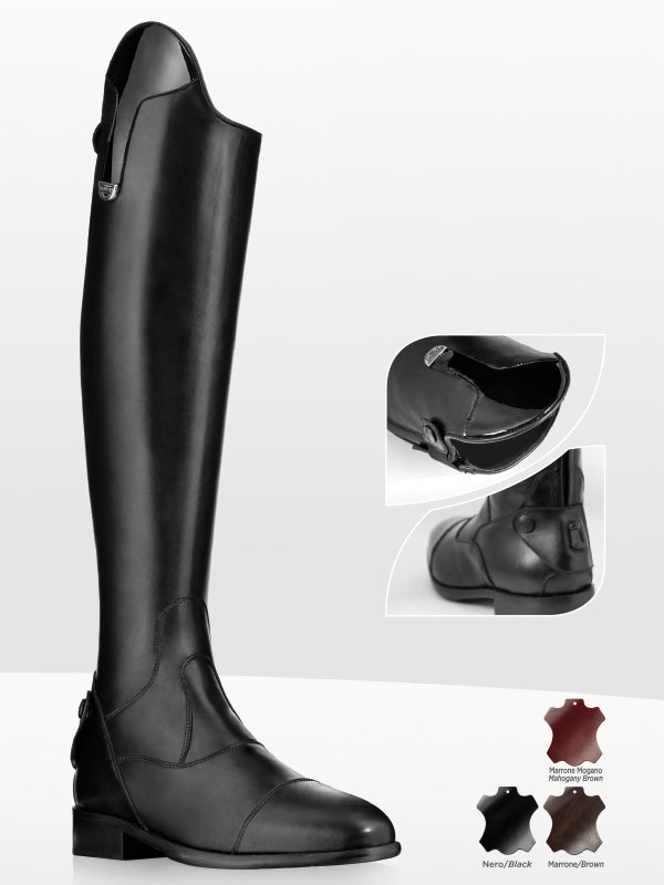 Long Black Leather Riding Boots