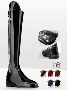 Patent Dressage Tall Boots with bling