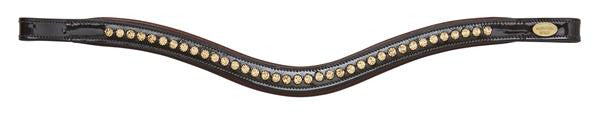 Patent Brown Browband
