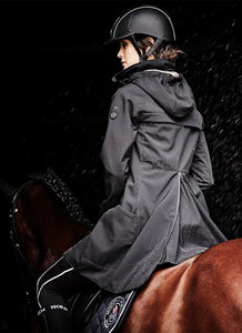 Long length waterproof riding coat