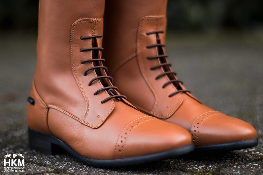 Tan coloured Long riding boots