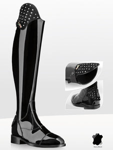 Patent Riding Boots with Swarovski