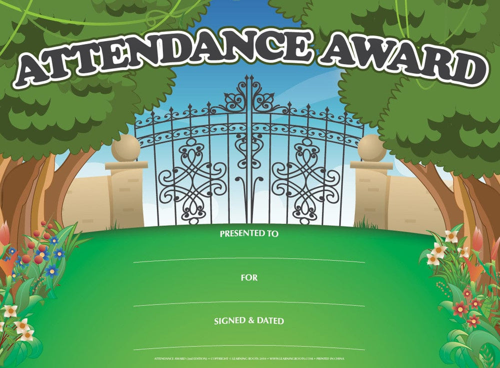 Attendance Award (25 Pack - A4) - Learning Roots